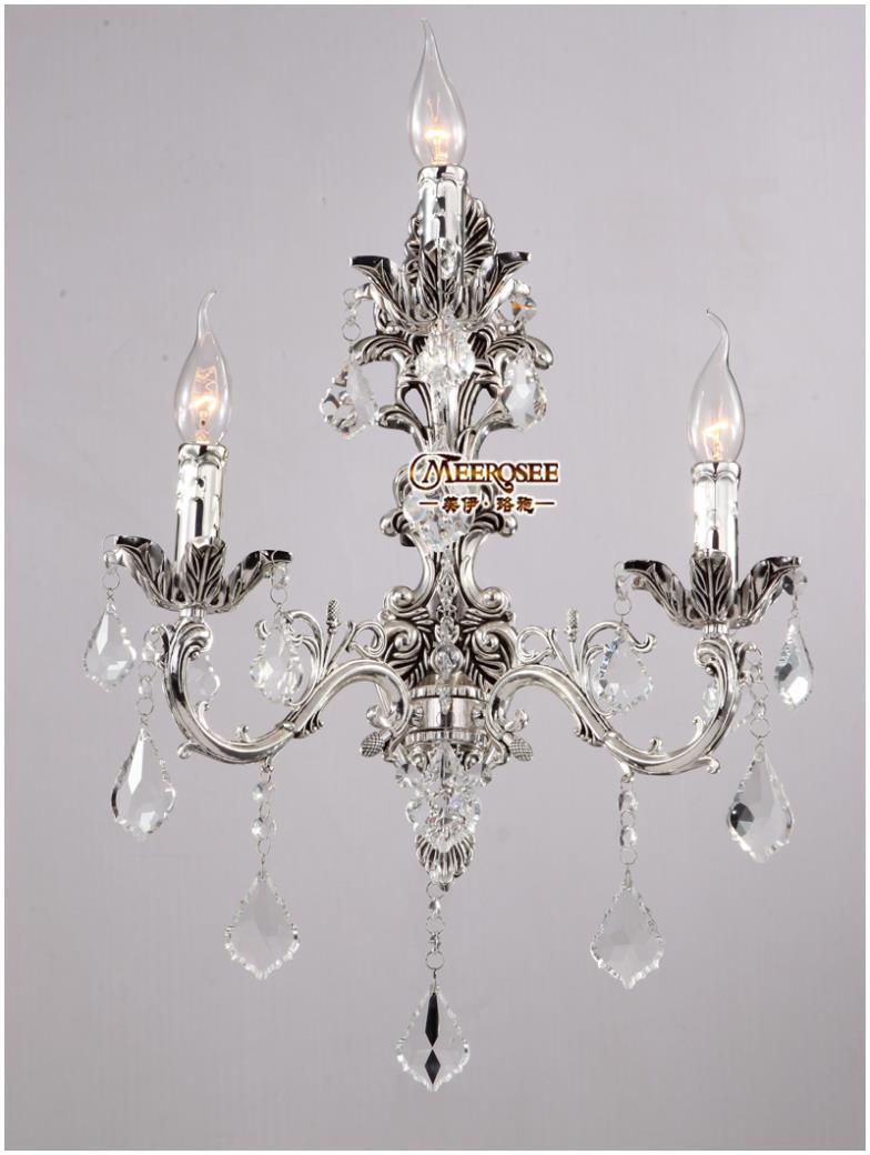 Ihausexpress 100 guarantee 3 lights crystal wall light silver wall categories aloadofball Choice Image