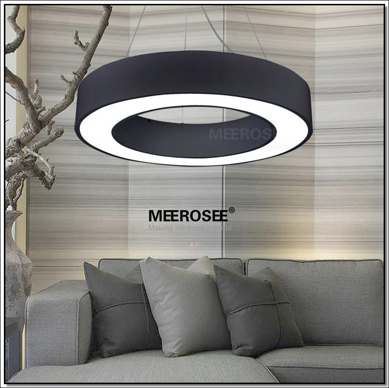 Black LED Ring Pendant Light Fixture MD2552
