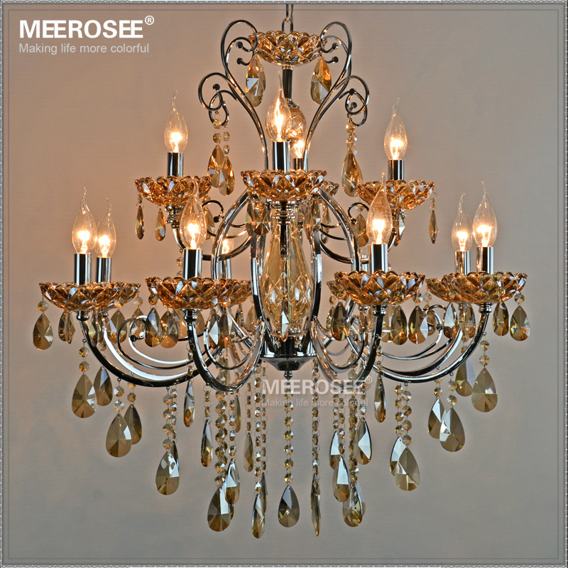 Ihausexpress modern wrought iron chandelier k9 crystal light prev aloadofball Image collections