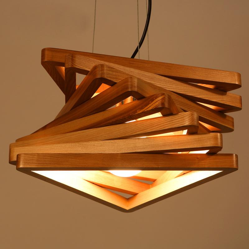 Ihausexpress Spiral Wood Stack Pendant Light Md 038 L