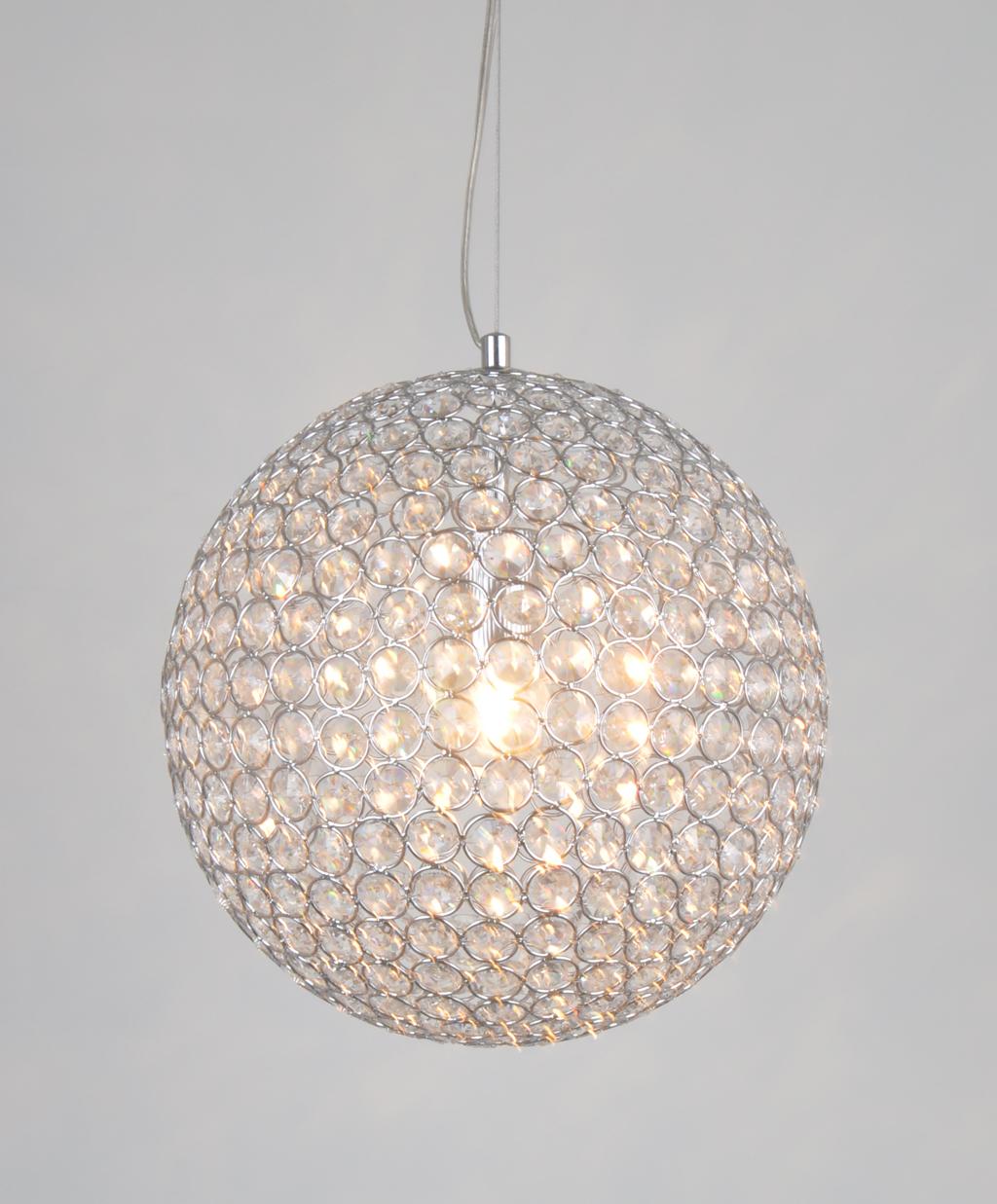 Image of: Ihausexpress Contemporary K9 Crystal Ball Pendant Light