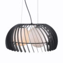 Glass ball shade modern pendant light