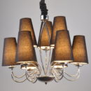 Modern design large flax copper chandelier