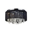 Black shade crystal ceiling lamp