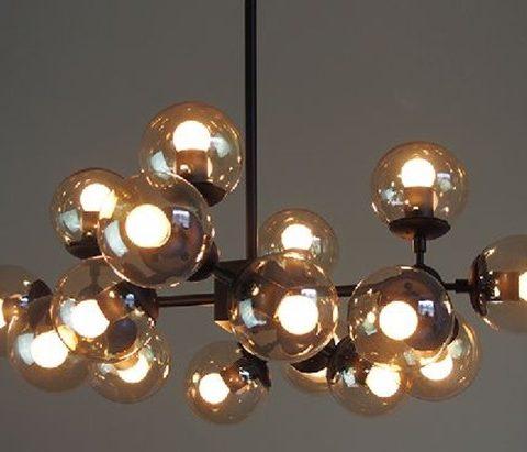 Ihausexpress round glass ball iron chandelier round glass ball iron chandelier mozeypictures Gallery
