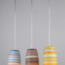 Color fancy glass pendant light