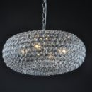 Crystal oval pendant light fixture