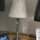Metal Glass Ball Fabric Shade Table Lamp